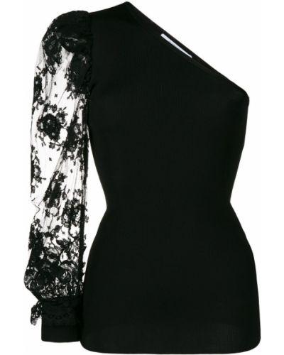 Z rękawami koronkowa czarny bluzka Givenchy