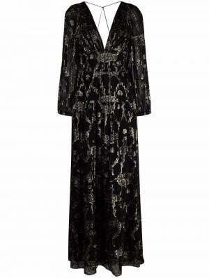 Черное платье длинное Ba&sh