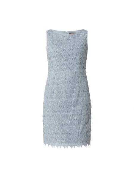 Niebieska sukienka koktajlowa z szyfonu Vera Mont