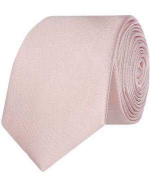 Różowy krawat z jedwabiu Monti