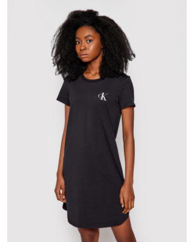 Koszula nocna - czarna Calvin Klein Underwear