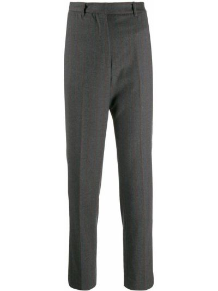 Укороченные брюки с завышенной талией с лампасами Incotex