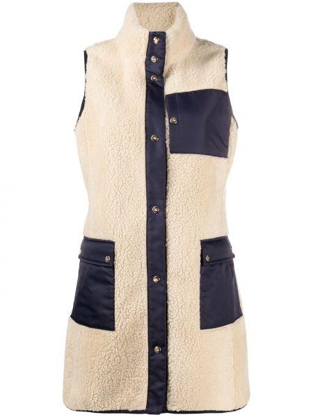 Акриловая жилетка с карманами с воротником на кнопках Fay
