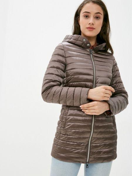 Теплая коричневая утепленная куртка Conso Wear