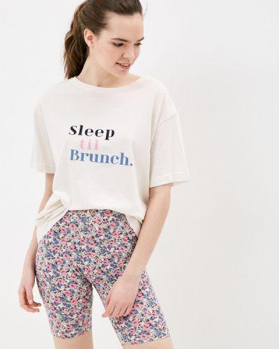 Пижамная бежевая пижама Marks & Spencer