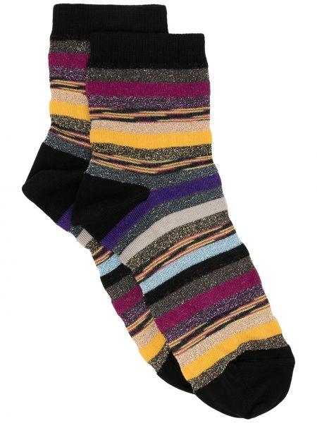 Bawełna bawełna czarny skarpety z paskami M Missoni