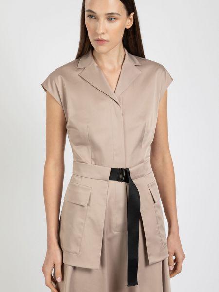 Платье с отложным воротником милитари Vassa&co