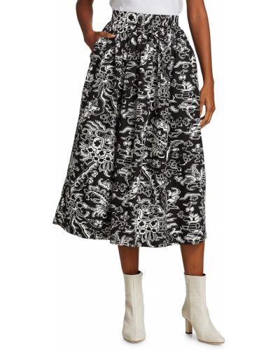 Черная юбка с принтом Rachel Comey