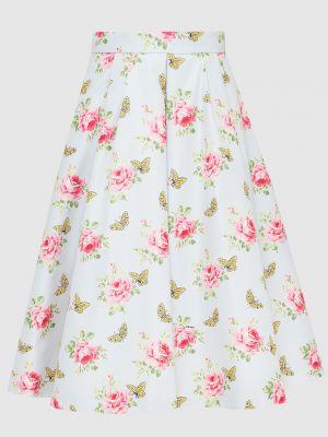 Шелковая юбка миди Prada