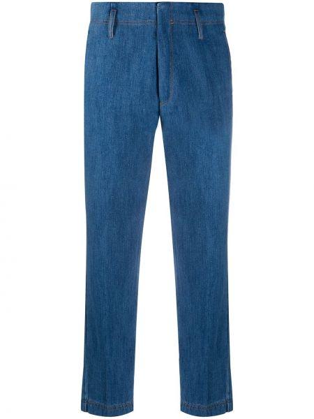 Прямые джинсы с завышенной талией - синие Forte Forte