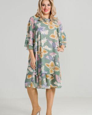 Летнее платье с цветочным принтом платье-сарафан Luxury