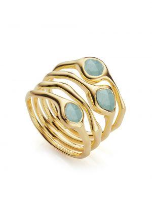 Кольцо позолоченное - желтое Monica Vinader