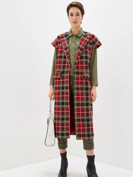 Красное пальто с капюшоном Bezko