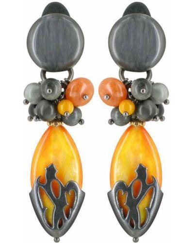 Оранжевые клипсы Nature Bijoux