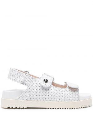 Sandały skórzane - białe Gucci