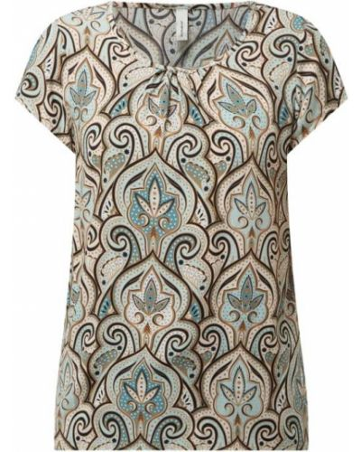 T-shirt z wiskozy turkusowy Soyaconcept