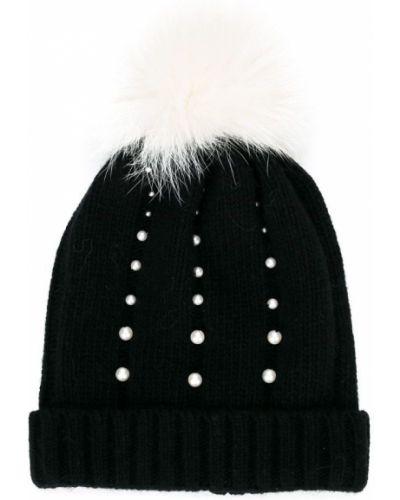 Кашемировая черная шапка Catya Kids