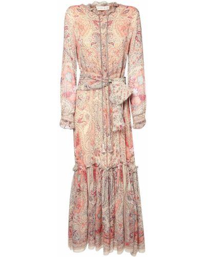 Платье макси на пуговицах с поясом Etro