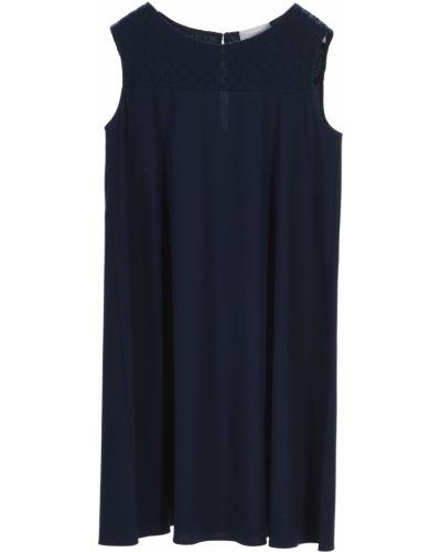 Хлопковое платье мини без рукавов Stefanel