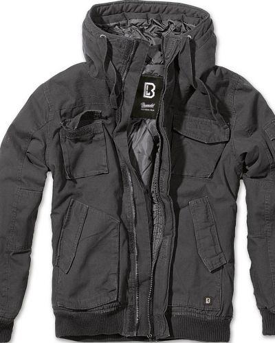 Стеганая куртка - черная Brandit