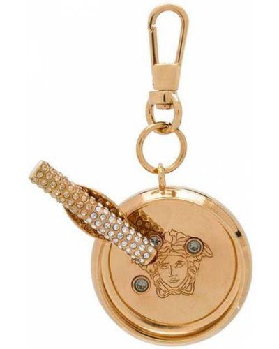 Brelok metal złoto Versace