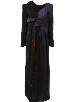 Шелковое платье макси - серое Yohji Yamamoto