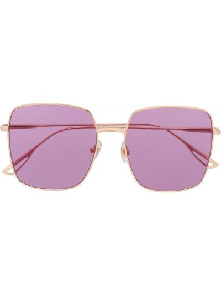 Złote okulary oversize Bolon