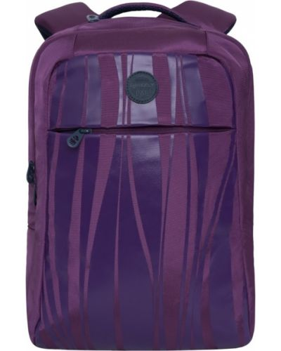 Школьный текстильный ранец с карманами на бретелях Grizzly