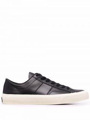 Czarne sneakersy koronkowe Tom Ford
