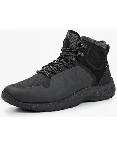 Треккинговые ботинки осенние черные Timberland