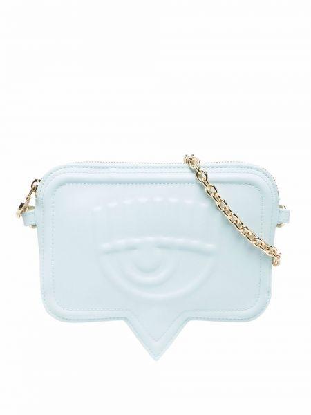 Złota torebka na łańcuszku - niebieska Chiara Ferragni