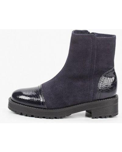 Лаковые синие кожаные ботинки Enzo Logana