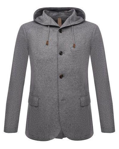 Серый пиджак с накладными карманами Eleventy