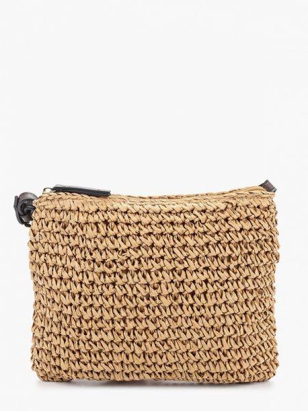 Соломенная сумка через плечо с перьями Marks & Spencer
