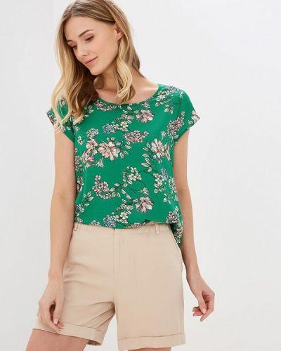 Блузка с коротким рукавом зеленый Only