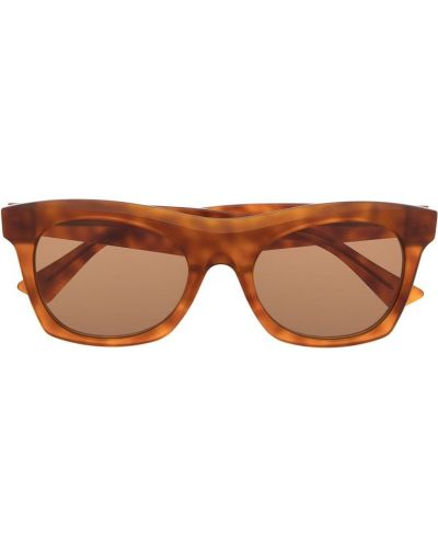 Коричневые солнцезащитные очки квадратные Bottega Veneta Eyewear