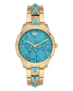 Кварцевые часы с камнями бирюзовый Michael Kors