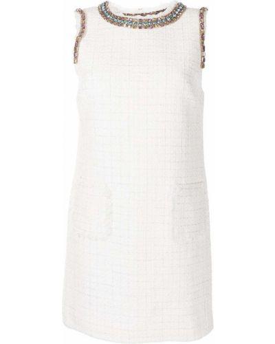 Платье твидовое - белое Blumarine