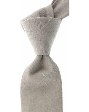 Beżowy krawat z jedwabiu Belvest
