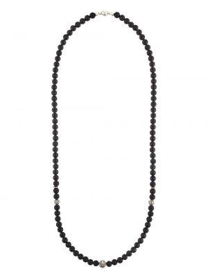 Naszyjnik ze srebra z koralikami Nialaya Jewelry