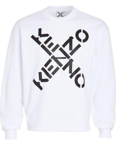 Bawełna runo biały bluza z długimi rękawami Kenzo