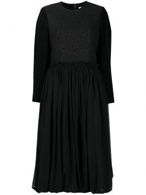 Шерстяное платье макси - черное Comme Des Garçons