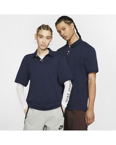 T-shirt dzianinowa - niebieska Nike