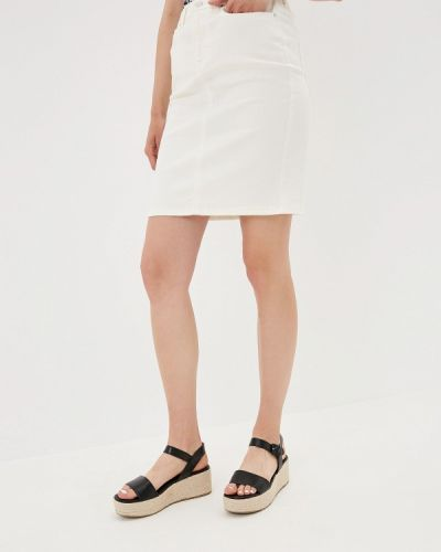 Джинсовая юбка белая Vila