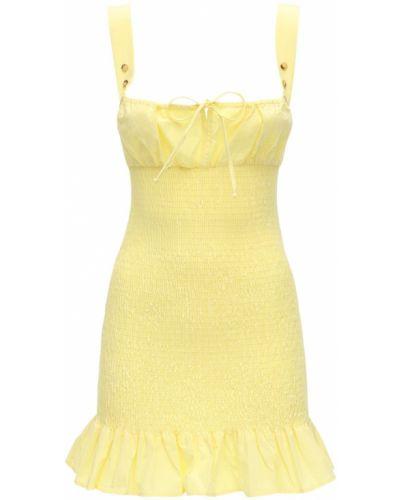 Żółta sukienka mini bez rękawów bawełniana Ciao Lucia