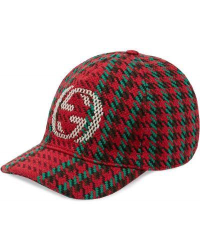 Bawełna z paskiem wełniany czapka z daszkiem Gucci