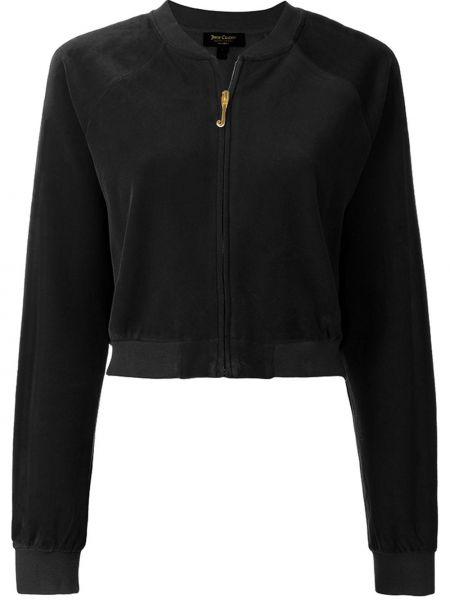 Черная короткая куртка с манжетами Juicy Couture