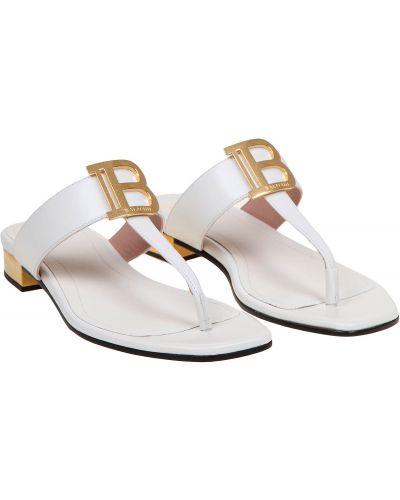 Żółte złote sandały Balmain