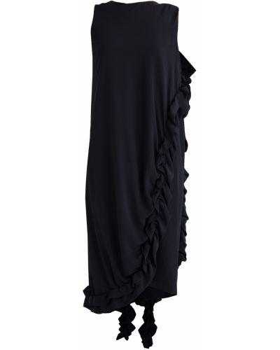 Вечернее платье прямое с оборками Marni