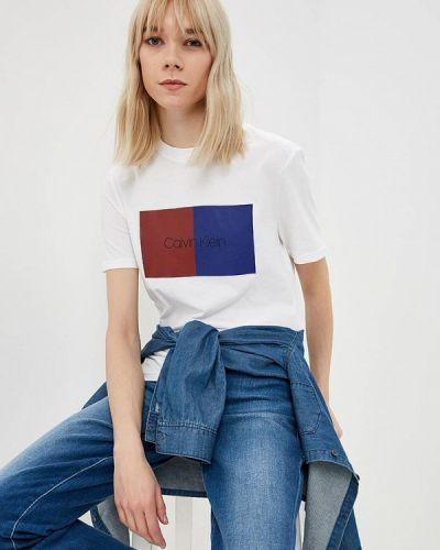 Белая футболка 2019 Calvin Klein